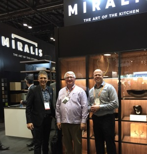 Art Enns (center) with Harold (L) and JC (R) from Miralis