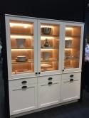 A new take on in-cabinet lighting - back lit shelves